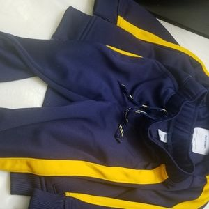 Old Navy blue and yellow track suit 2T